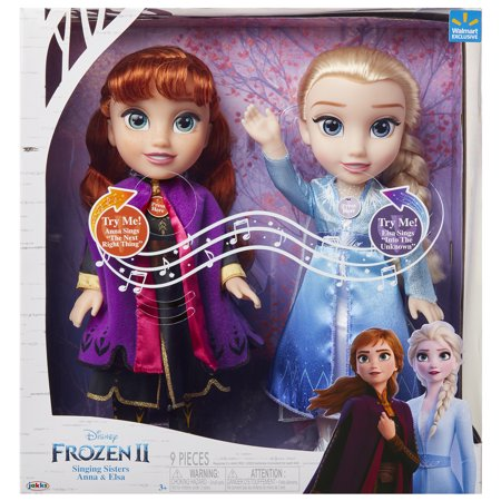 Disney Frozen 2 Princess Anna And Elsa Sister Interactive Feature Doll 2 Pack Walmart Exclusive Walmart Com In 2021 Elsa Doll Disney Princess Frozen Sister Dolls