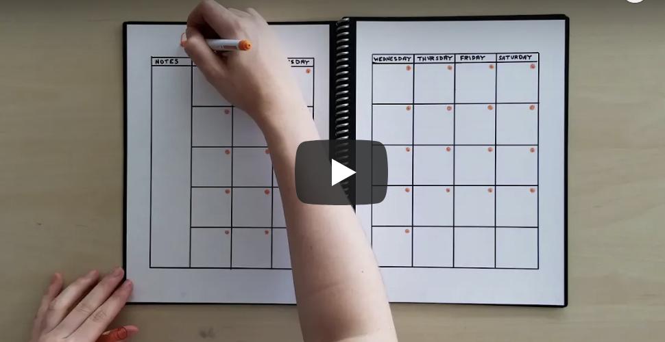 photo regarding Rocketbook Printable Pages titled How towards Deliver a Reusable Calendar in just Your Rocketbook Destroy