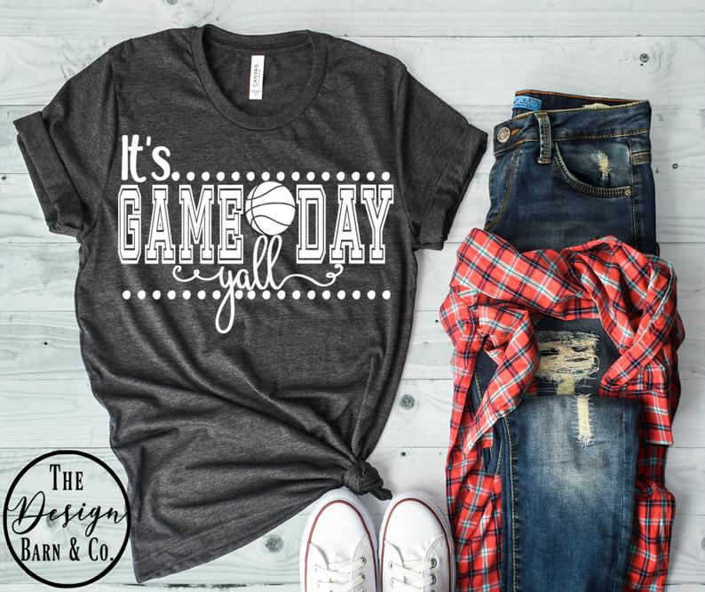 Game Day Shirt Basketball Mom Shirts Fall Shirt Basketball Shirts Basketball Shirt Lets Do This Gameday Basketball Mom Fall Shirts