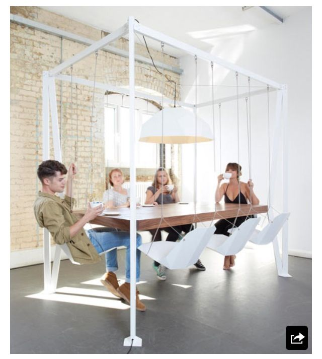 Things I need in my Dream Home ~ A Swing Set Dinning Table