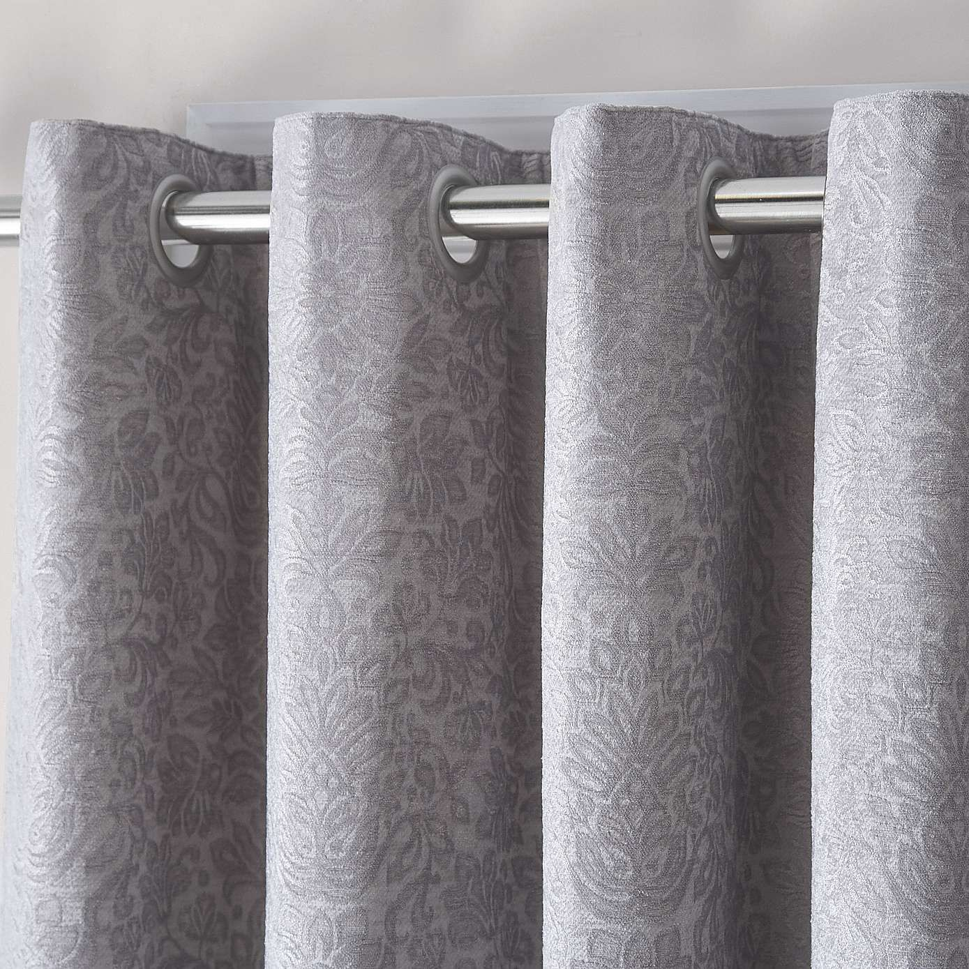 Althorp Silver Lined Eyelet Curtains Dunelm