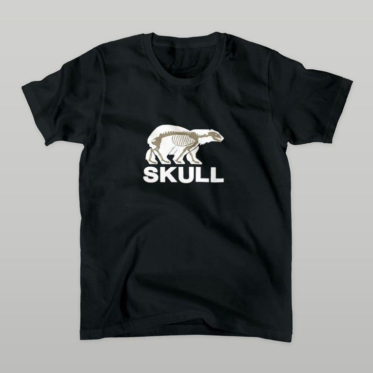 SKULL(白クマ) Tシャツ