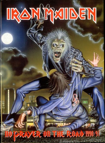 For Sale -Iron Maiden No Prayer On The Road 1990/91 UK  tour programme TOUR PROGRAMME- See this and 250,000 other rare and vintage records & CDs at http://eil.com/