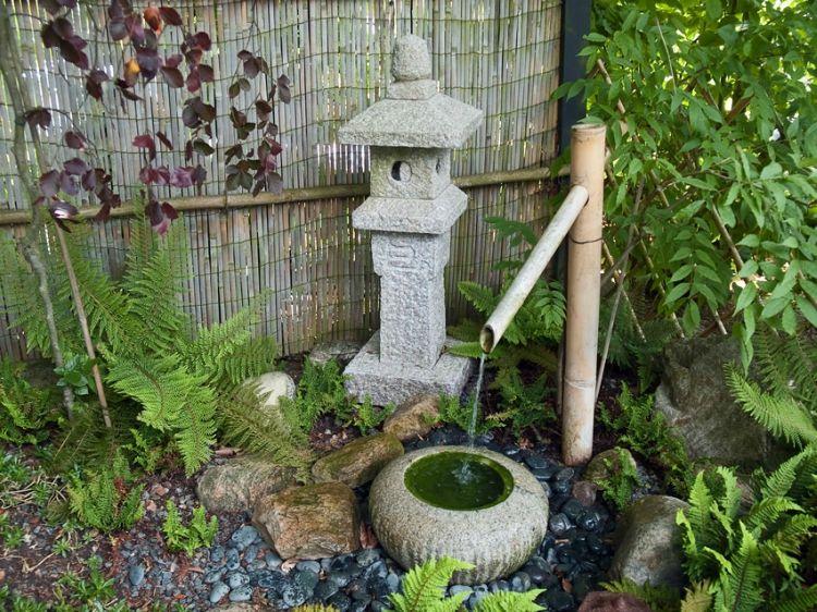 Garten Brunnen Selber Bauen Bilder Asiatisch Bambus Garden