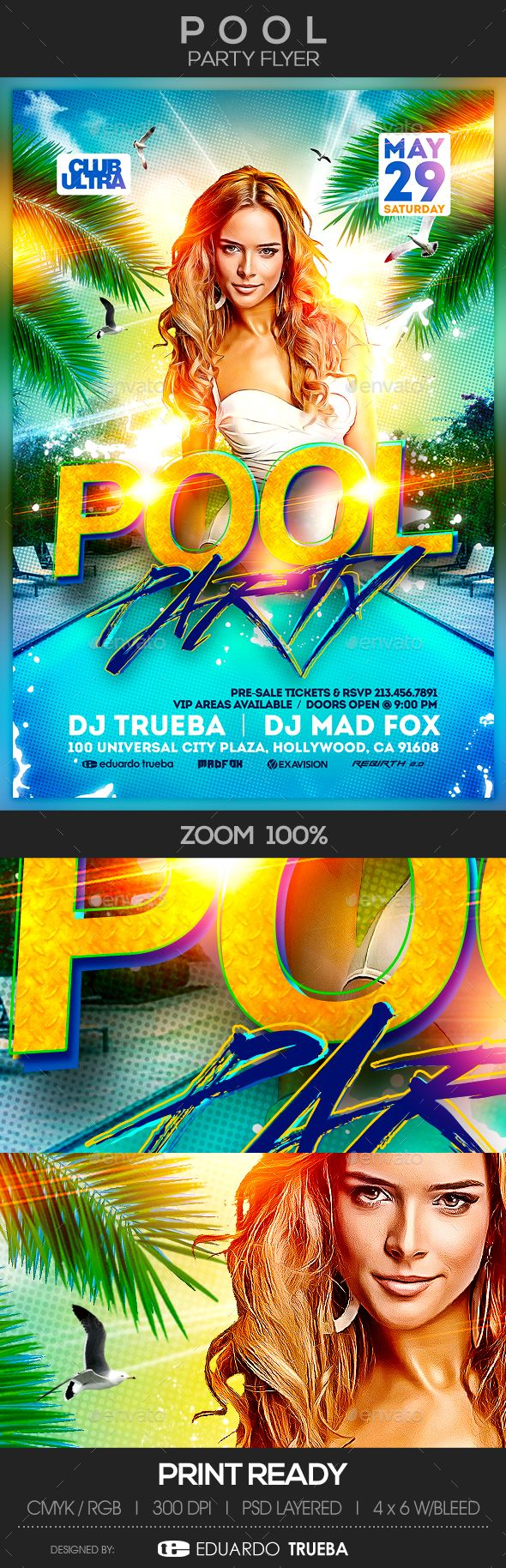 Pool Party Flyer  Party Flyer Flyer Template And Template