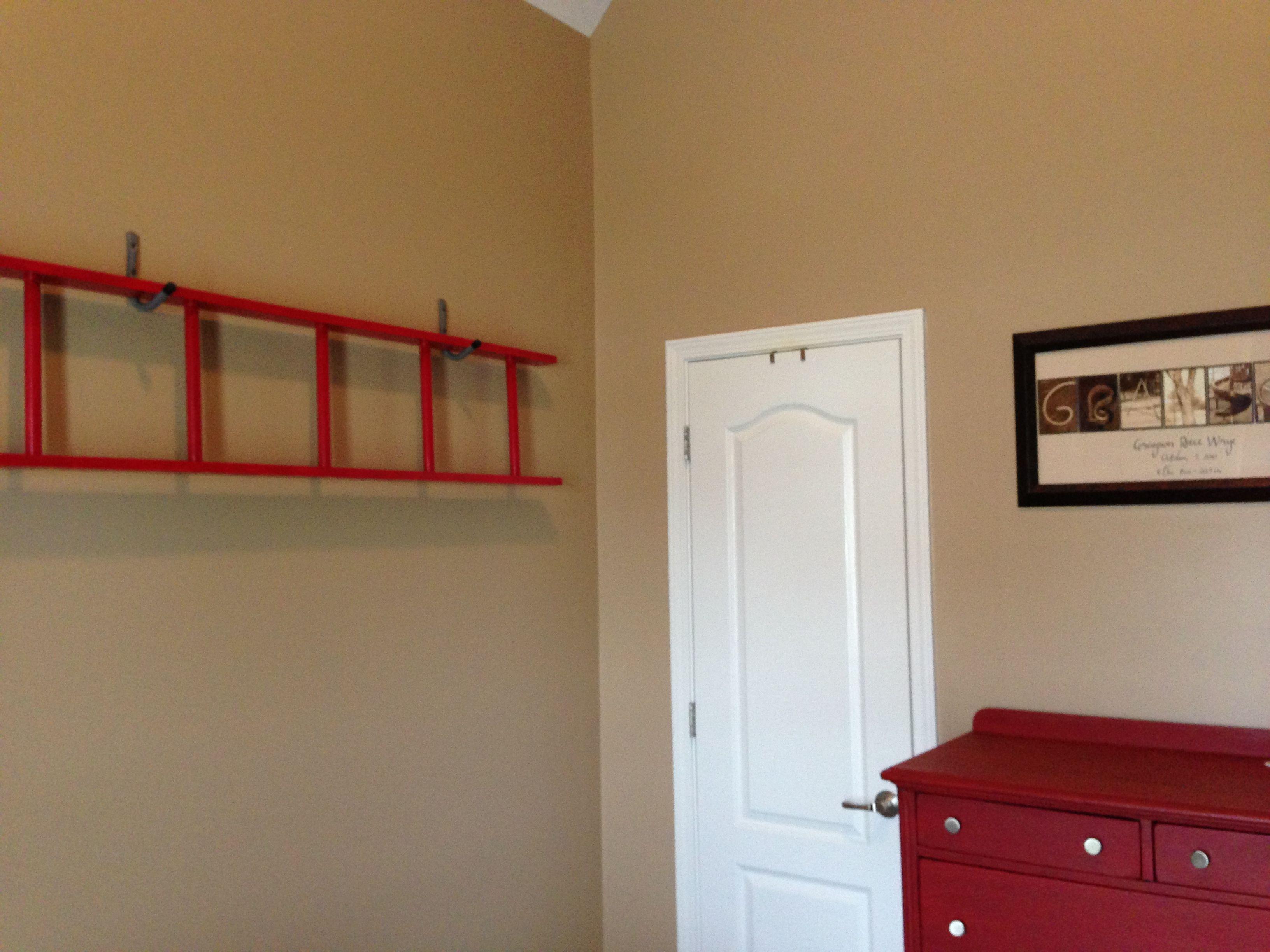 Ladder decor for toddler firetruck room austinus bedroom ideas in
