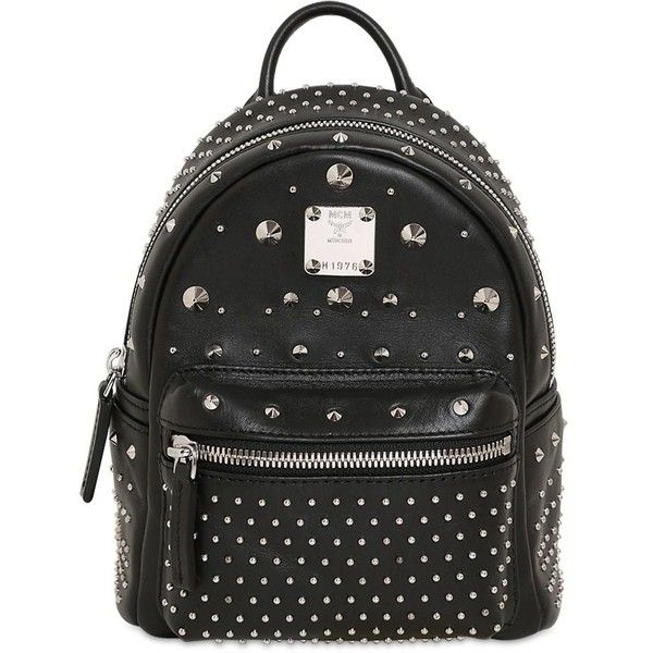 Mcm Extra Mini Stark Leather Backpack 1 100 Liked On Polyvore Featuring Bags