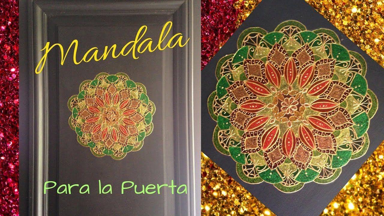 Mandala autoadhesivo para pegar en la puerta en navidad o todo el
