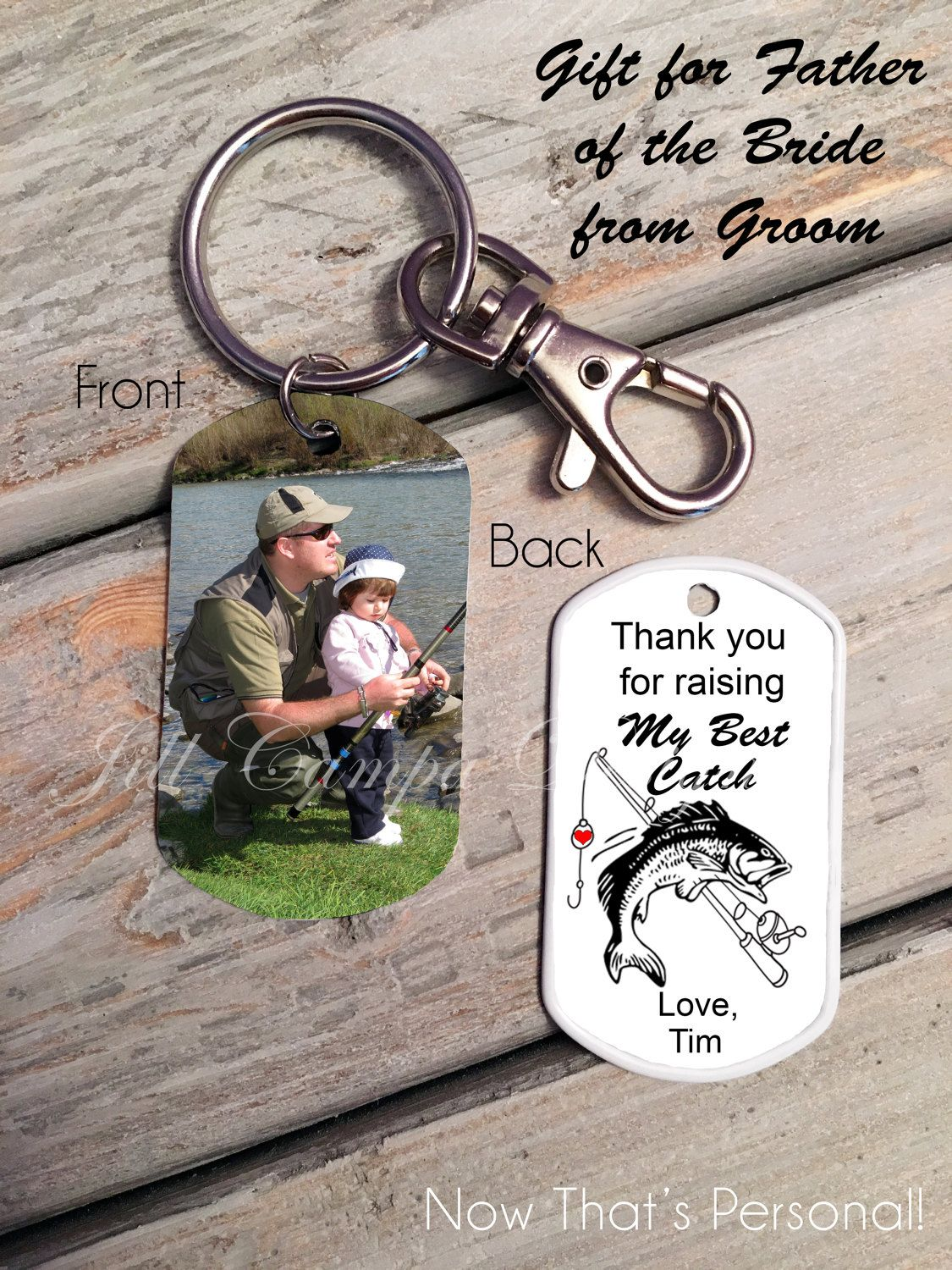 Father Of The Bride Gift From Groom Fishing Theme Grooms Gift
