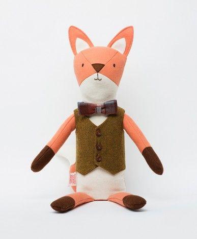 Henry the Fox - Walnut Animal Society - Stuffed Animals Handmade in the USA