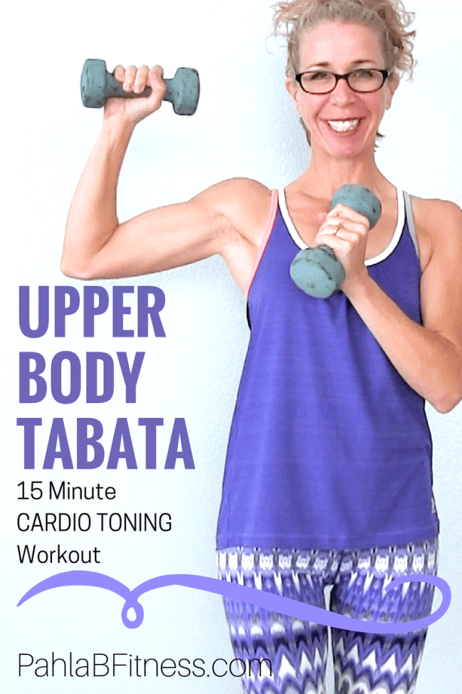 All Standing UPPER BODY Tabata | 15 Minute CARDIO TONING for Tight Arms, Shoulders, Chest + Back • Pahla B Fitness