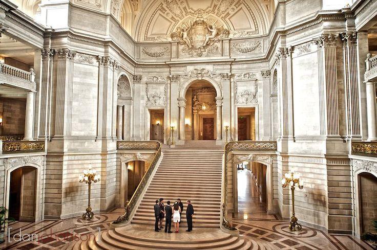 San Francisco City Hall Civil Wedding Ceremony At The San Fr San Francisco City Hall San Francisco City Hall Wedding San Francisco City Hall Wedding Ceremony