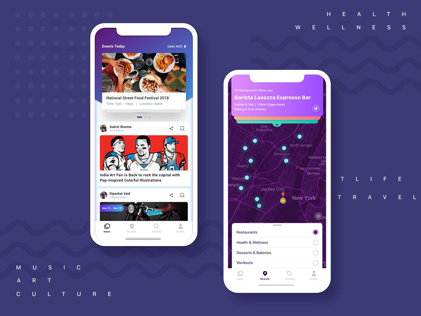 """Check out this Behance project """"Near me App concept"""