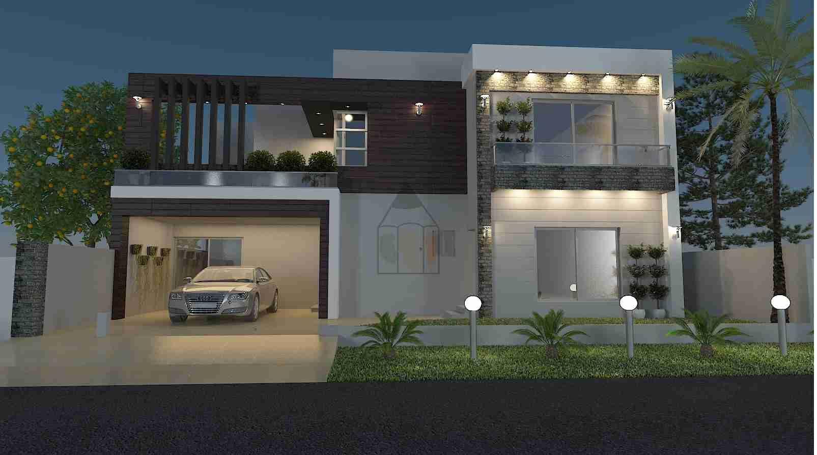 Ghar Ka Naksha Front Elevation Bungalow House Design