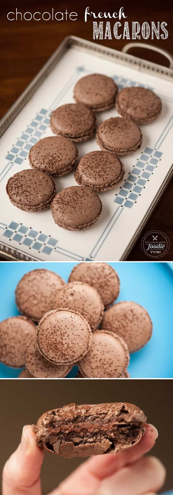 Photo of Macarons franceses de chocolate