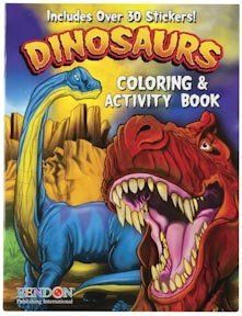 Dinosaur Coloring Book Party Favor Collection