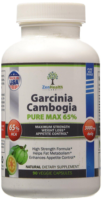 Garcinia Cambogia Extract Pure Max Super Strong 65 Hca 90