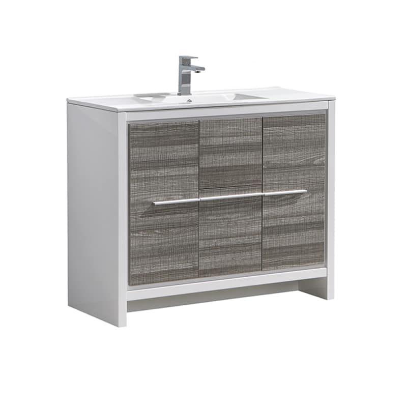Fresca Fcb8140 I Senza 40 Single Vanity Set With Wood Cabinet And