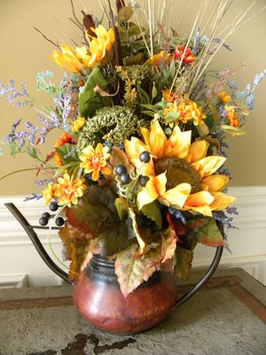 Fall Flower Arrangement Rustic Floral Arrangements
