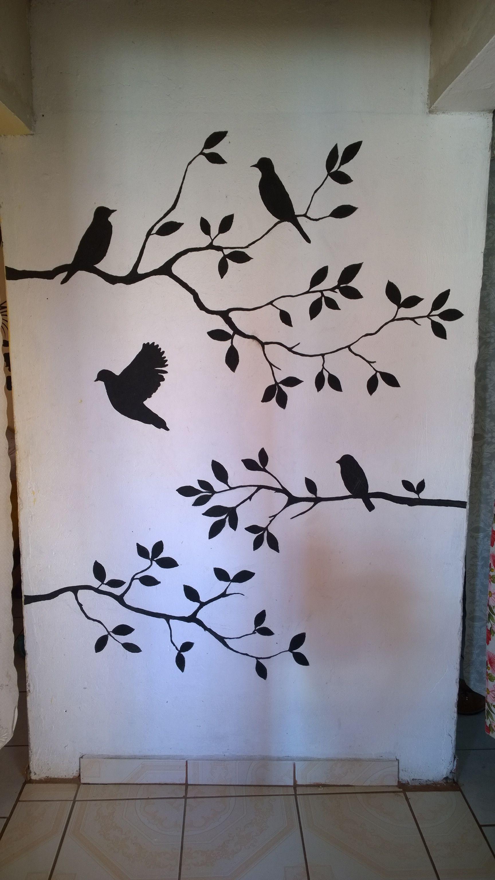 Mural Vinilo De Aves Vinilos De Aves Decoracion De Muros Disfraces De Halloween Infantiles