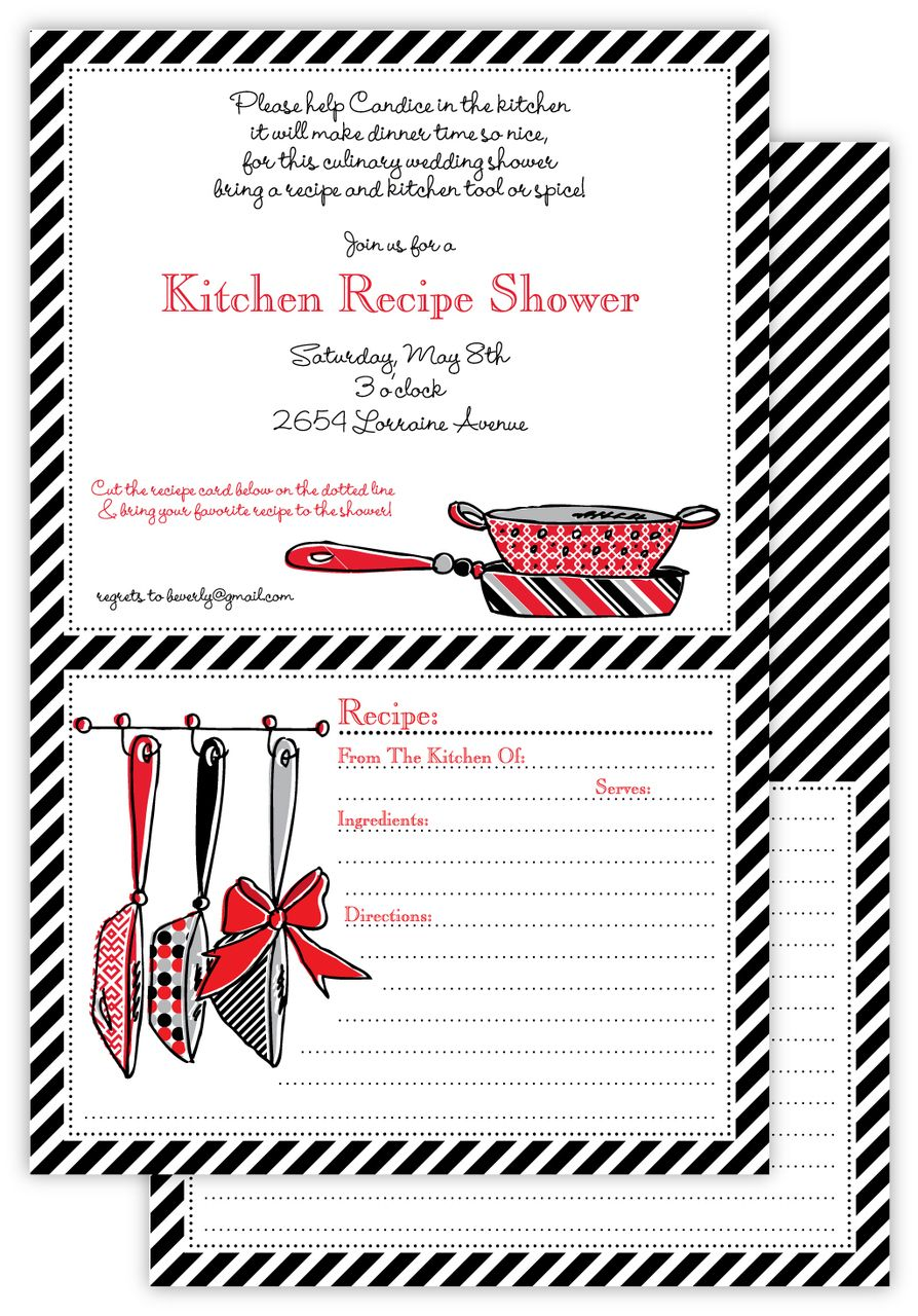 Sending out Kitchen Shower Invitations? Learn How to Create a Party ...