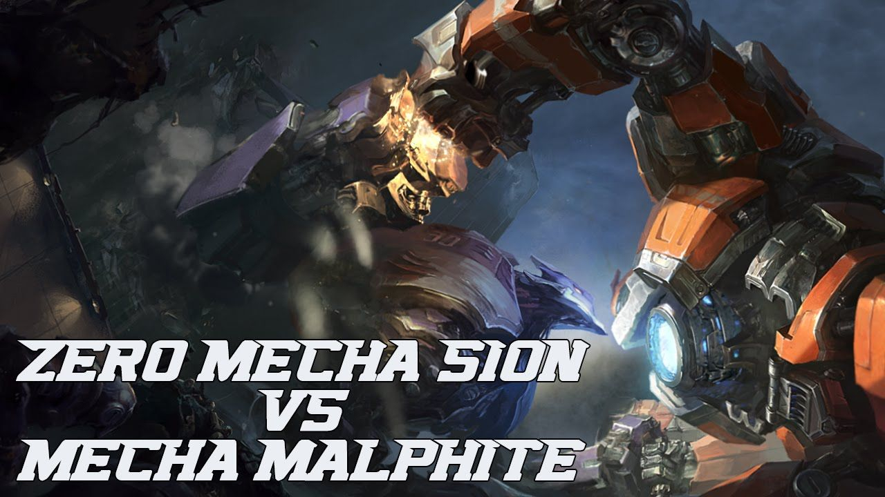ZERO Mecha SION vs Mecha MALPHITE League of Legends new login screen