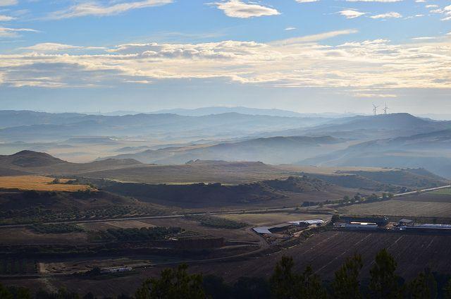 Vista desde Larraga, Navarra, Spain.