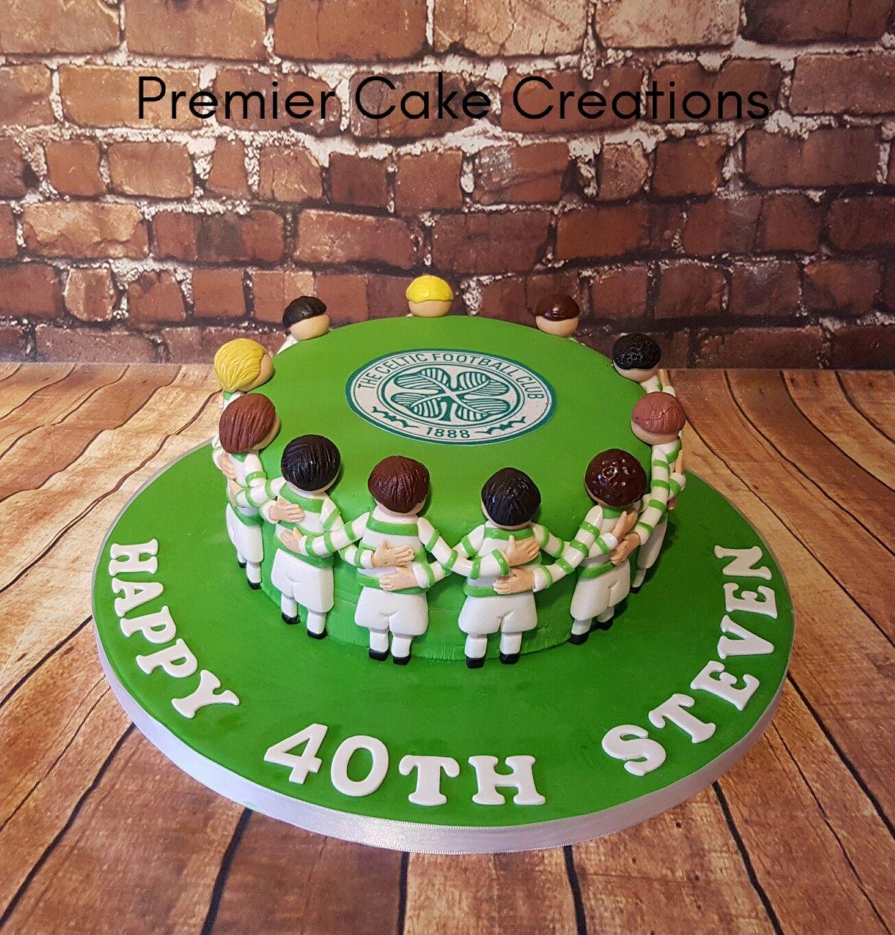 Celtic huddle cake 60th birthday cakes rugby cake