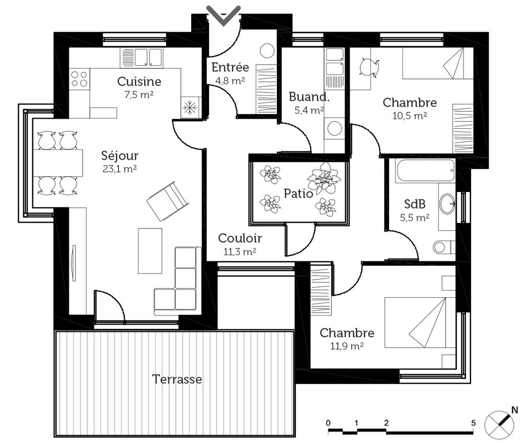 pingl par ang lique vincenti sur peut tre pinterest plan maison maison et plane. Black Bedroom Furniture Sets. Home Design Ideas