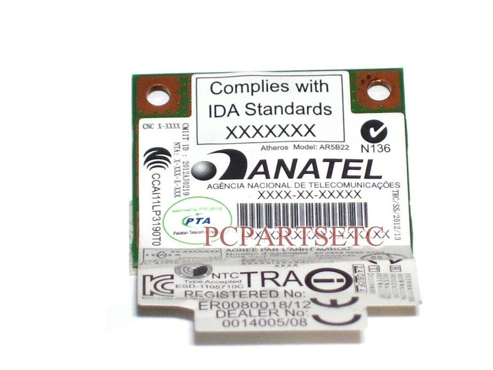 Motion Computing LE1700 Wireless WiFi Network Card AR5BXB6 WM7519A-FLF-CP