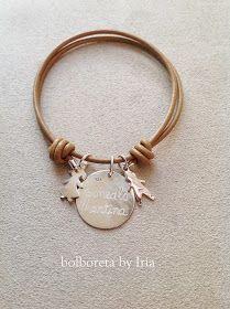 2a335c473f9e Pulsera de cuero con chapa, niño y niña de plata | joyas | Jewelry ...