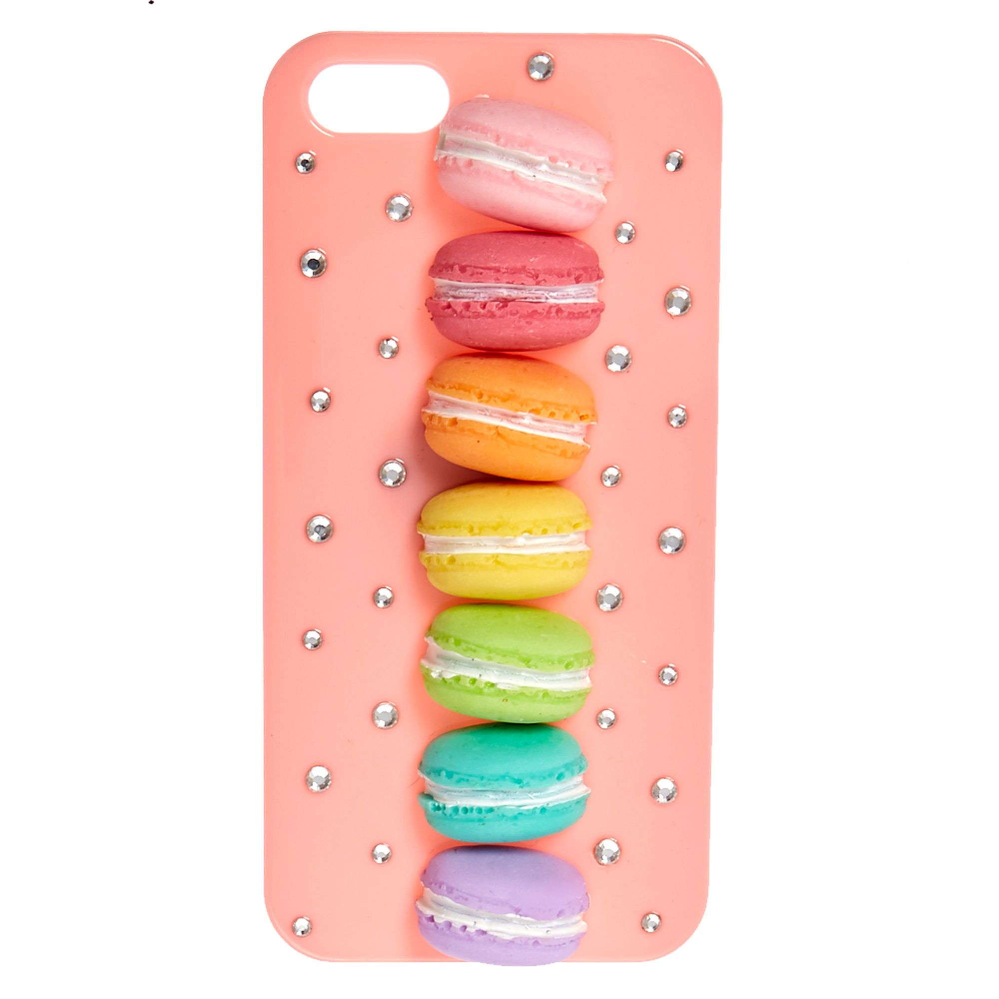 wholesale dealer cd4c7 4f15f Rainbow Macaroon Phone Case | Claire's US | Olivia | Rainbow phone ...