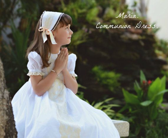 Girl COMMUNION Dress. Mod MARÍA.Imperial by Moniquesthingsshop