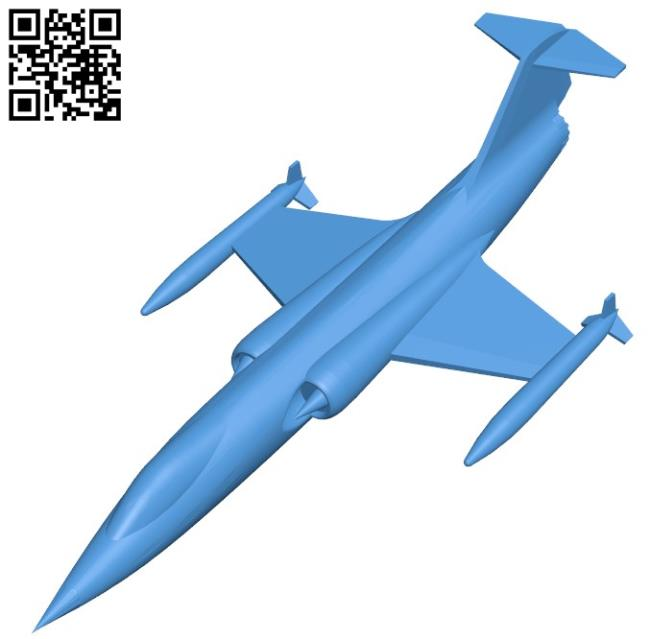 Aircraft F104 B004395 File Stl Free Download 3d Model For Cnc And 3d Printer Download Free Stl Files Stl 3d Model Free Download