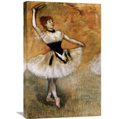 Global Gallery 'Dancer with a Tambourine' by Edgar Degas Painting Print on Wrapped Canvas