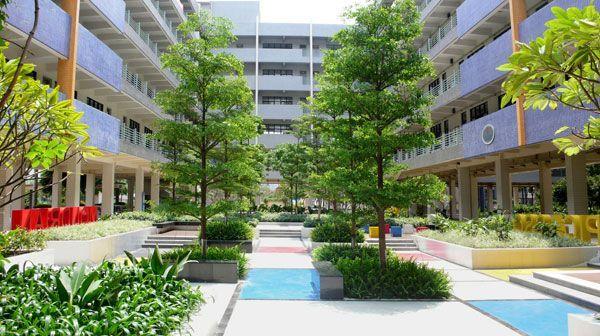 yi+zhong+de+sheng+secondary+school   school landscape design