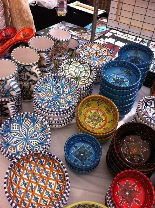 Pinterest & Handmade hand painted Tunisian pottery including hand ...