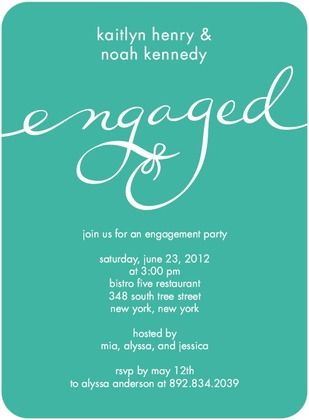 Signature White Engagement Party Invitations Perfect Knot - Front - engagement invitation words