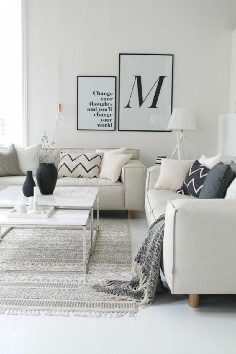 skandinavisches design 120 stilvolle ideen in bildern wohnen pinterest wohnzimmer. Black Bedroom Furniture Sets. Home Design Ideas
