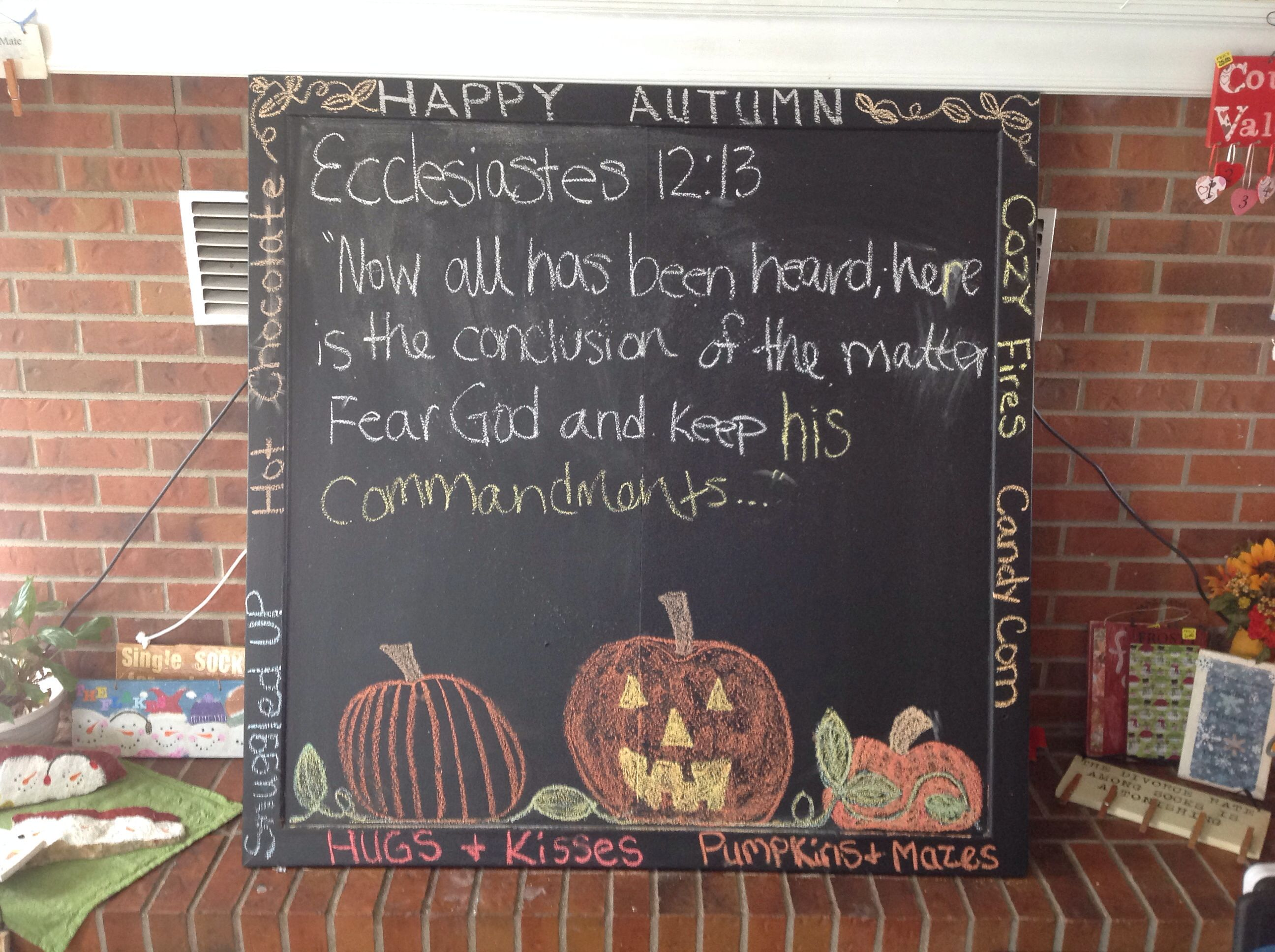 Huge hand painted chalk board frame. So much fun for any room in the house. Especially a child's room for endless hours of chalkboard fun or great for a large group game of pictionary.