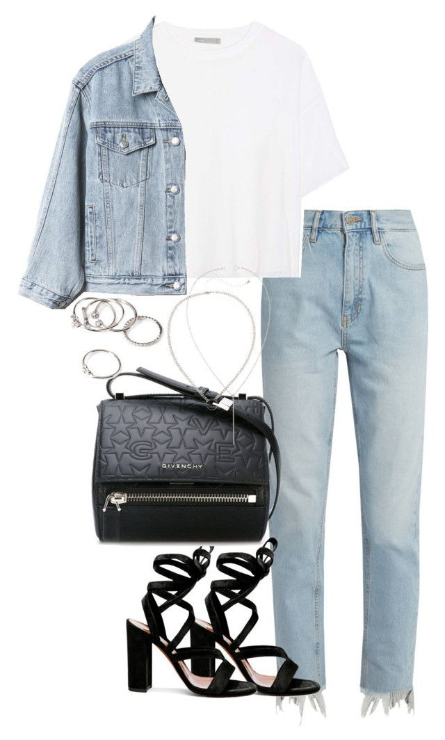 """""""Untitled #3638"""" by theeuropeancloset on Polyvore featuring M.i.h Jeans, Vince, Gap, Gianvito Rossi, Givenchy and Forever 21"""