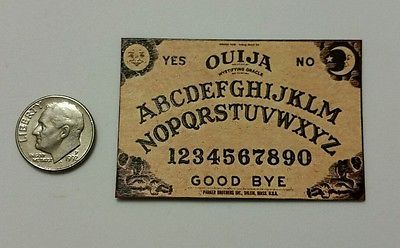 Miniature dollhouse Halloween  Ouija Board  Barbie 1//12 Scale or playscale