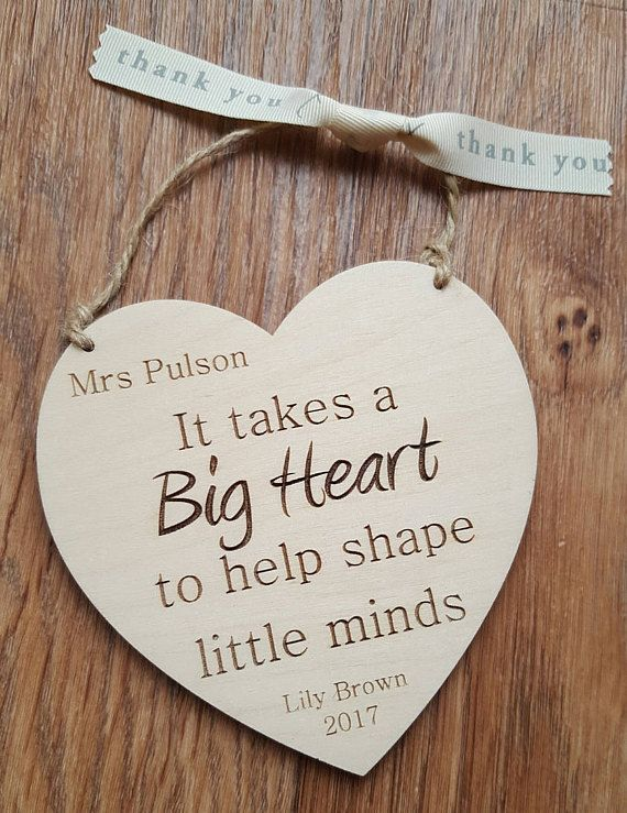 School Teacher Gift End of Term Thank You Keepsake Classroom Plaque Sign