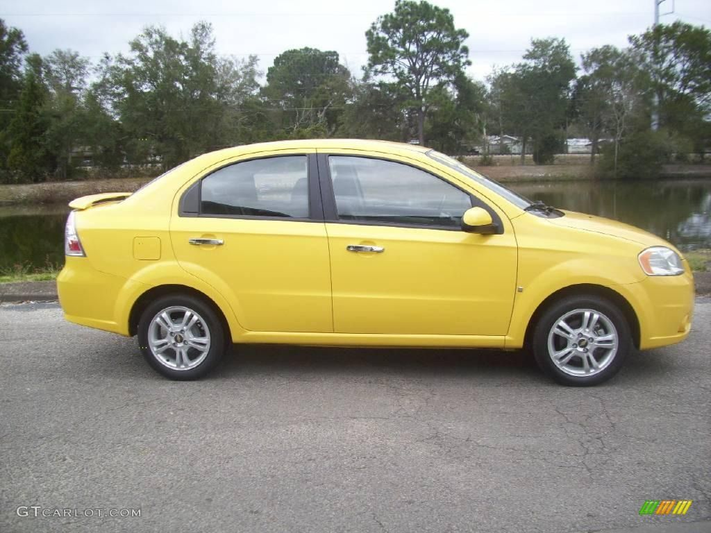 2009 Chevy Aveo 2009 Summer Yellow Chevrolet Aveo Lt Sedan