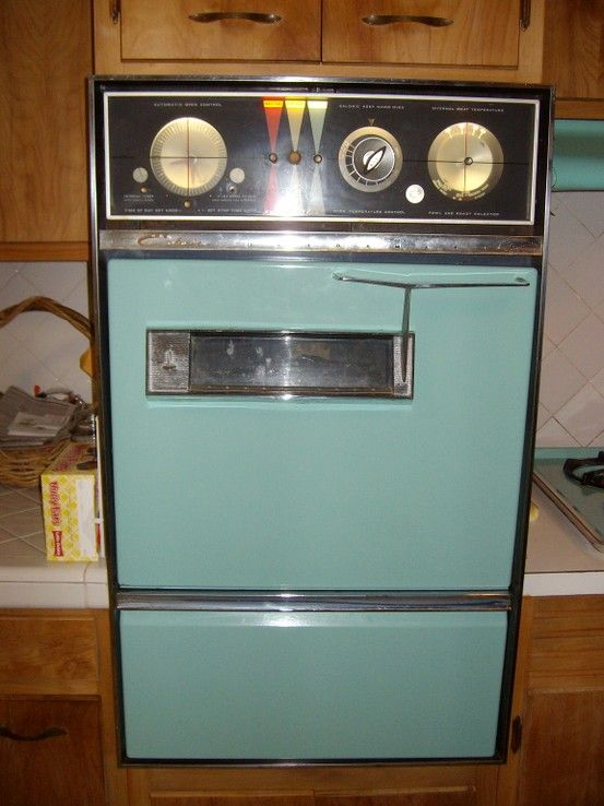 My Mom S 1960 Model Turquoise Caloric Ultramatic Wall Oven