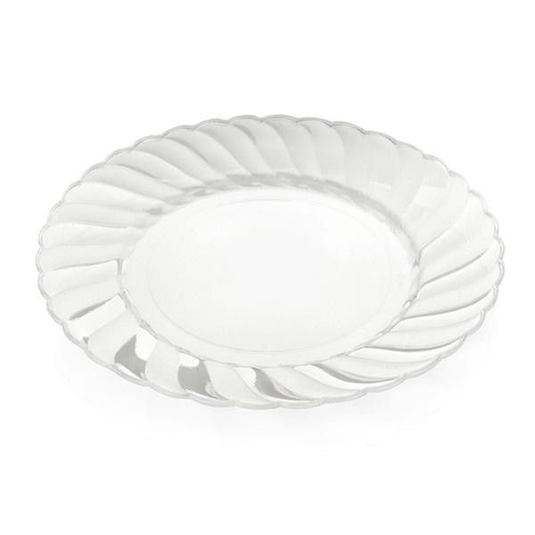 Elegant Ware 7.5 inch Clear Plastic Plates/Case of 216 | KT Party ...