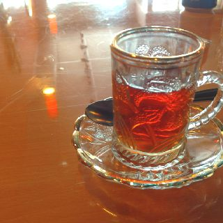 Turkish Tea At Juicy Gyros Restaurant Miami Beach Fl