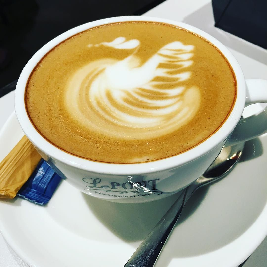 Sunday coffee   #coffeeoftheday #Cappucino #coffee #coffeeaddicted #coffeeart #coffeelover #coffeelife #instadaily #lepontboulangerie by yap_yk