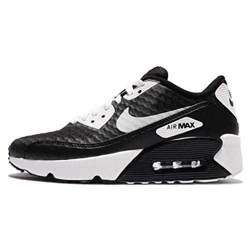 Nike Kid's Air Max 90 Ultra 2.0 BR GS, BLACK/WHITE, Youth.