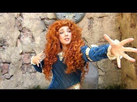 Disney Merida Teal Dress Tutorial - YouTube